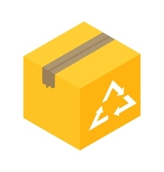 Eco box isometric 3d icon vector