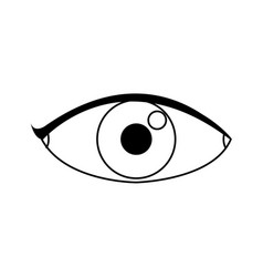 eye people cartoon watch optic icon vector image