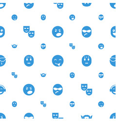 Facial icons pattern seamless white background vector