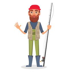 Fisher cartoon character vector