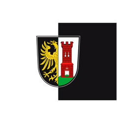 Flag of kempten in swabia in bavaria germany vector