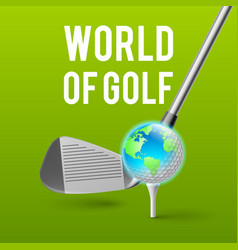golf concept vector image