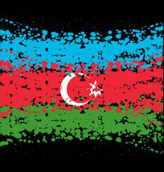 grunge blots azerbaijan background vector image
