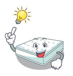 Have an idea mattress in cartoon on the shape vector