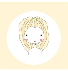 Horoscope Leo sign girl head vector