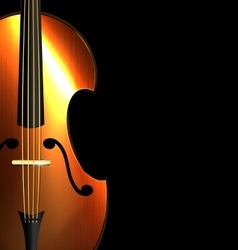 Image of abstract fiddle vector