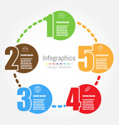 infographic design template with five options vector image