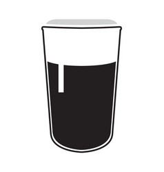 Isolated beer glass icon vector