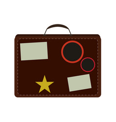 Isolated travel bag vector