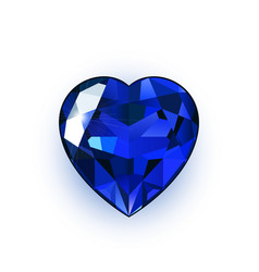 jewel in the shape of heart isolated vector image