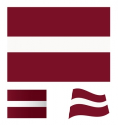 Latvia flag set vector