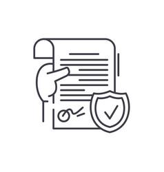 legal document line icon concept legal document vector image