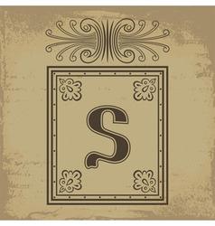 Letter S vector