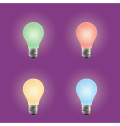Light bulb Different variants of colors vector