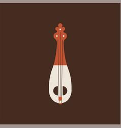 lijerica flat icon folk music instrument vector image