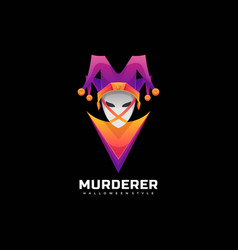 Logo murderer gradient colorful style vector
