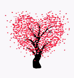 love tree with many hearts vector image