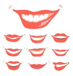 Lovely smiles set vector