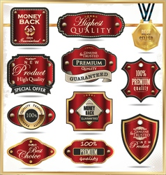Luxury labels vector image