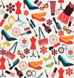make up and beauty cloth and accessories vector image