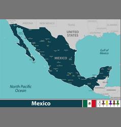 map mexico vector image