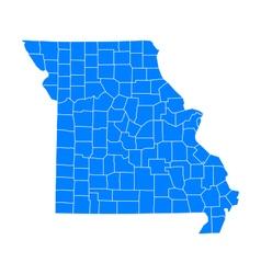 Map of Missouri vector