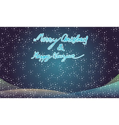 Merry christmas and happy newyear typography vector