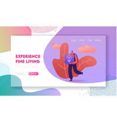 modern technologies and smart home website landing vector image