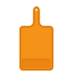 Orange cutting board banner vector