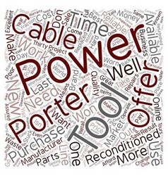 Porter Cable text background wordcloud concept vector