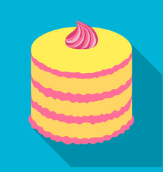 purple cake icon in flate style isolated on white vector image