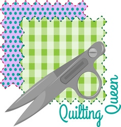 Quilting Queen vector