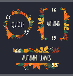 quote blank template autumn design elements with vector image