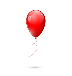 red glossy balloon isolated on white background vector image