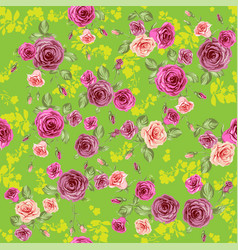 roses spring pattern vector image
