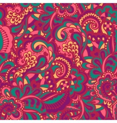 Seamless abstract hand-drawn pattern vector image
