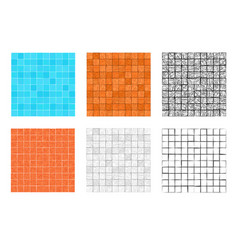seamless square stone pattern for floor and wall vector image