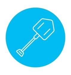 Shovel line icon vector image