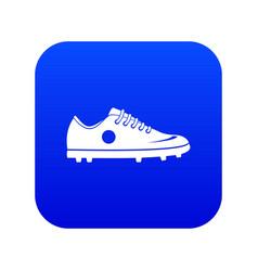 soccer shoe icon digital blue vector image