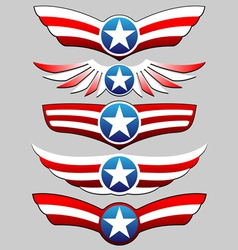 stars and stripes ribbon set vector image