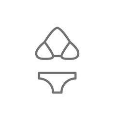 Swimsuit bikini beachwear line icon vector