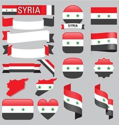 Syria flags vector