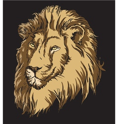 T-shirt design with lion vector
