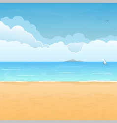 Tropical beach vacation vector