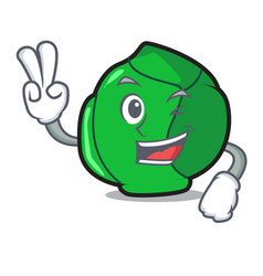 Two finger brussels character cartoon style vector