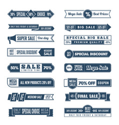 vintage horizontal banners hot offers premium vector image