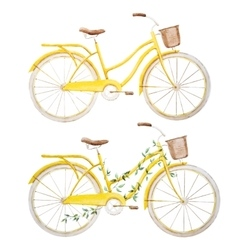 Watercolor bike bicycle vector image