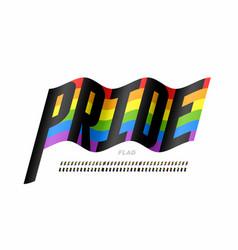 waving rainbow flag colors font vector image