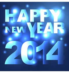 Abstract light Happy New Year background vector image