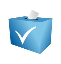 Cast your vote ballot paper vector